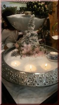 Kerzensand Dekoration Weihnachten Palmwachs Kerze